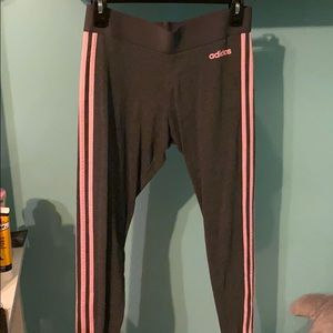 dark grey adidas leggings